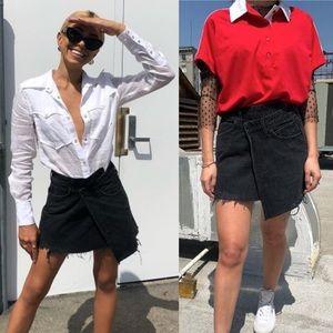 AGOLDE   Audrey Crisscross Skirt